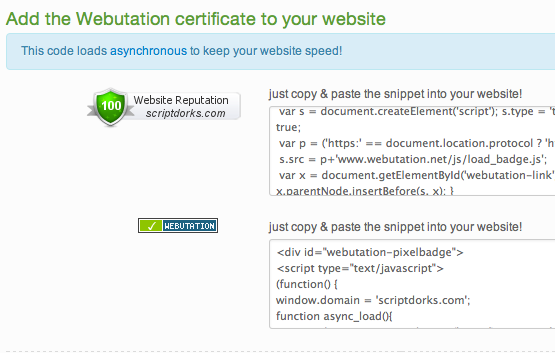 Safe Site Verified code